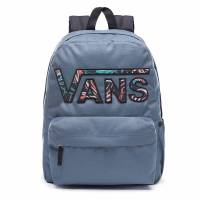 VANS REALM FLYING V BACKPACK DARK SLATE/BLACK CALIFORNIA FLORAL VN0A34GHP58