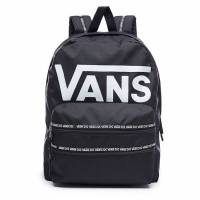 VANS SPORTY REALM II BACKPACK BLACK/WHITE LOGO VA3IMEY29