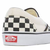 VANS CLASSIC SLIP-ON SHOES (CHECKERBOARD) BLACK AND WHITE CHECKER/WHITE VEYEBWW