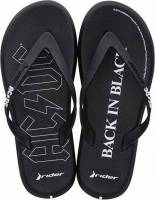 RIDER ACDC THONG AD 780-200003-19-1 BLACK/WHITE