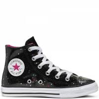 CONVERSE ALL STAR HI 665105C GALAXY SHIMMER BLACK/MOD PINK/WHITE