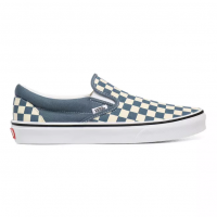 VANS CLASSIC SLIP ON (CHECKERBOARD) BLUE MIRAGE/TRUE WHITE VN0A4U38WRU
