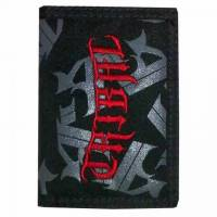 TRIBAL WALLET TRIFOLD LOGO BLACK