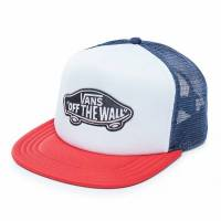 VANS CLASSIC PATCH TRUCKER HAT Dress Blues-White-Chili Pepper V00H2VPIQ