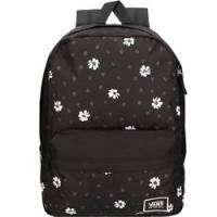 VANS REALM BACKPACK  BLACK ABSTRACT DAISY   VA3UI7YDN